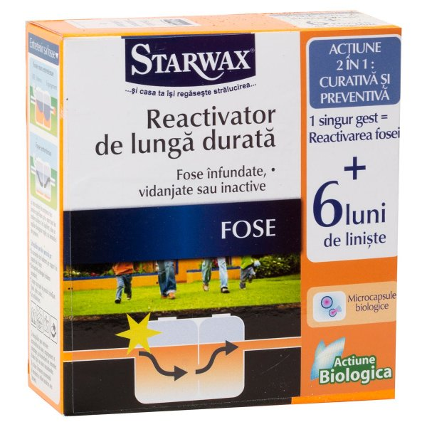 Pulbere REACTIVARE FOSE SEPTICE, tratament termen lung, Starwax - 500g